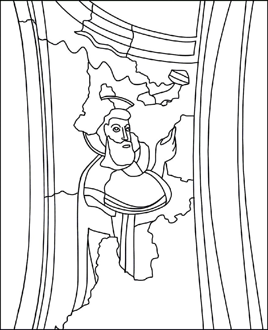 Colora l'illustrazione di Mosè | Battistero di Concordia Sagittaria - ARTing