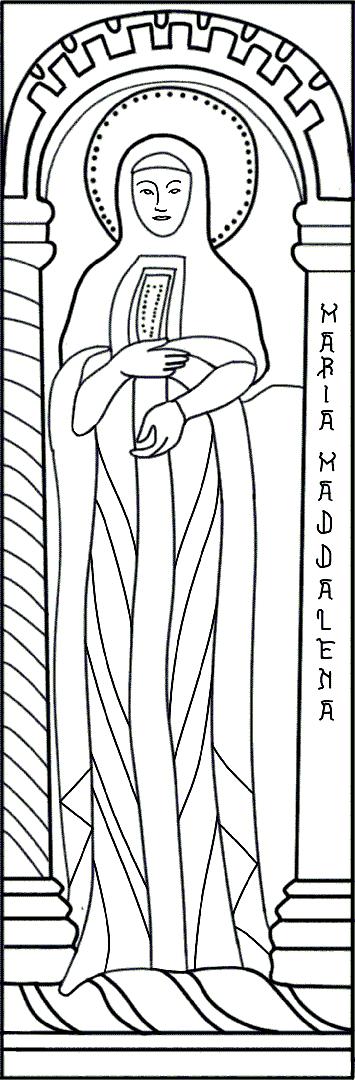 Colora l'illustrazione di Santa Maria Maddalena | Battistero di Concordia Sagittaria - ARTing