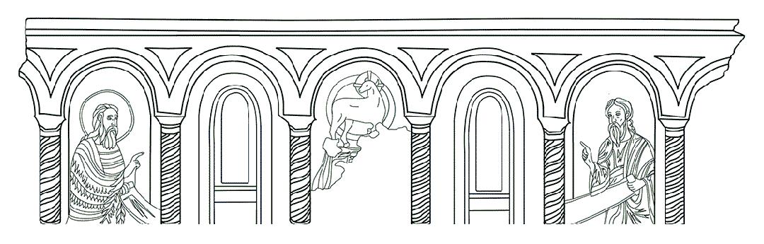 Colora l'illustrazione dei Profeti | Battistero di Concordia Sagittaria - ARTing