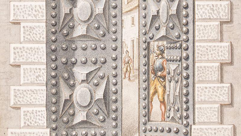 Manoscritto - Porta seconda d'ingresso nel Castello