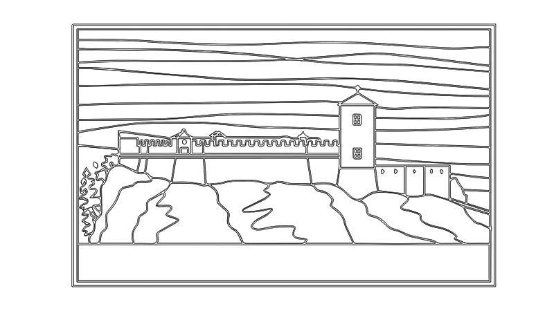 Manoscritto - Prospetto lineare del castello - ARTing