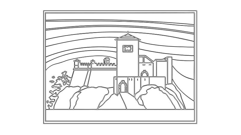 Manoscritto - Facciata lineare del Castello - ARTing