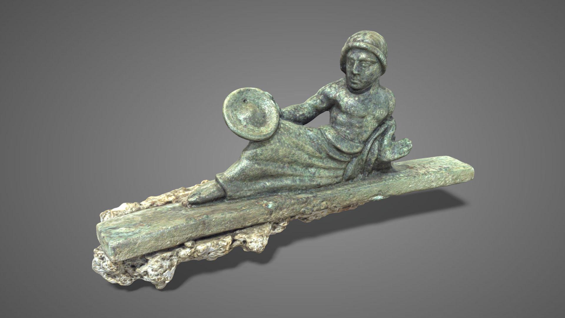 Bronzetto offerente su kline | Offerer on kline - 3D Model