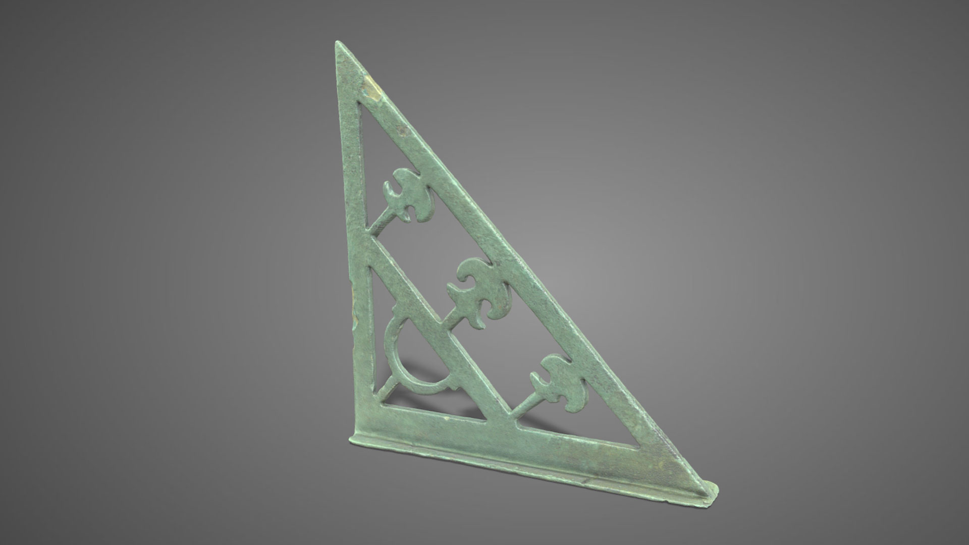 Squadra in bronzo | Bronze set Square - 3D Model
