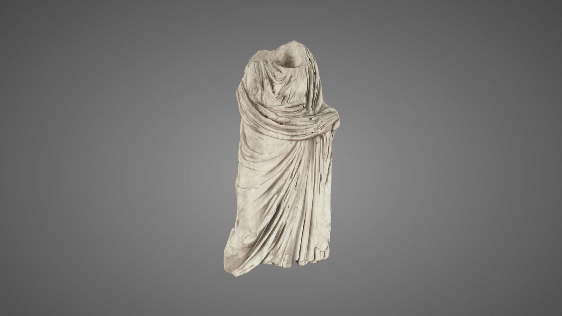 Statuetta Femminile Drappeggiata - 3D Model