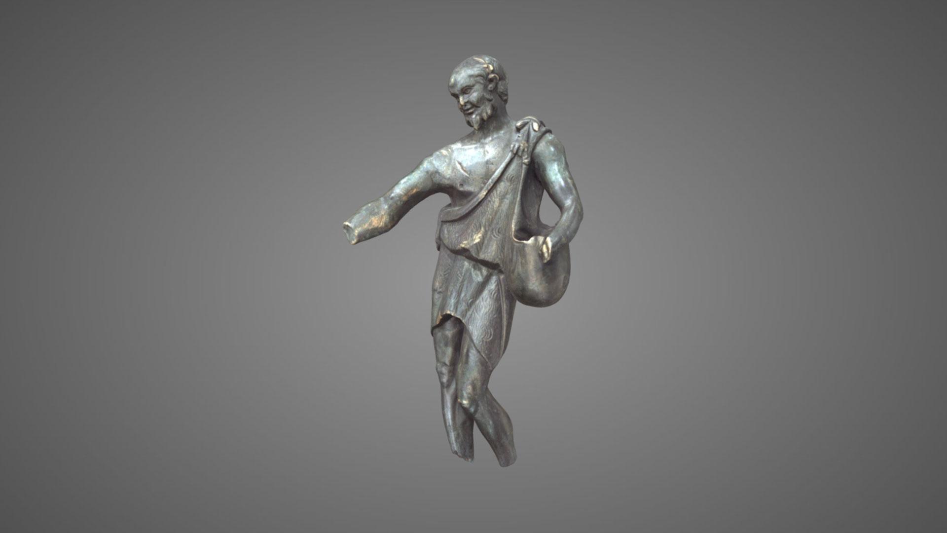 Statuetta di pastore/sileno in bronzo - 3D Model