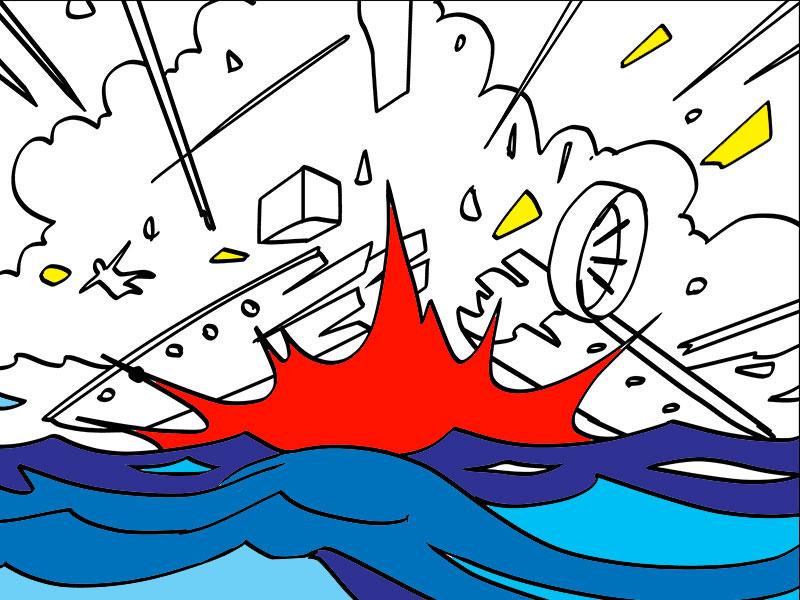 L'esplosione della nave - COLORing