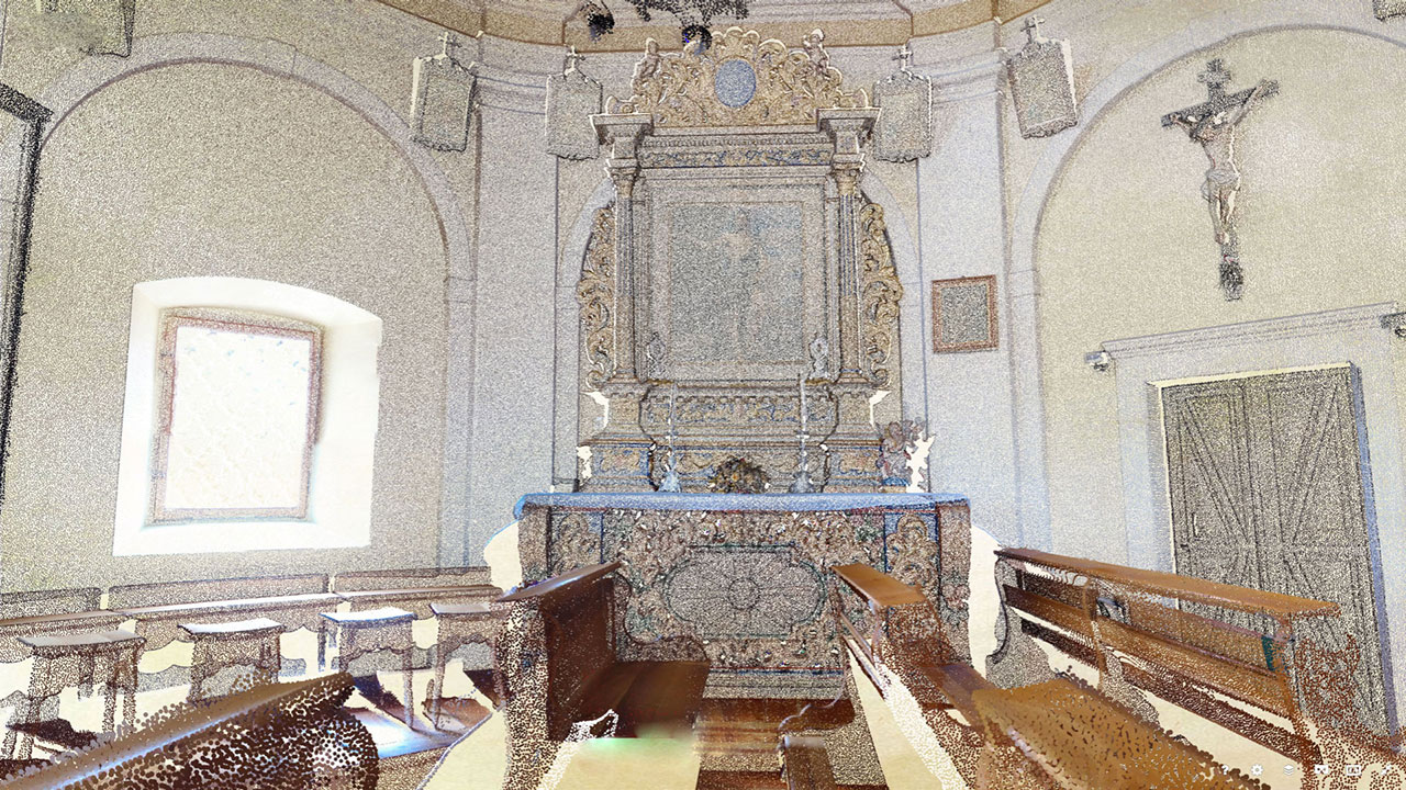 Cappella di San Candido - Cortina d'Ampezzo - Point Cloud