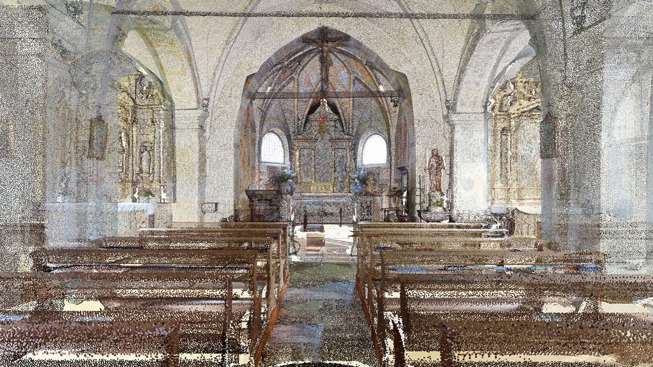 Chiesa Vergine della Difesa - San Vito di Cadore - Point Cloud