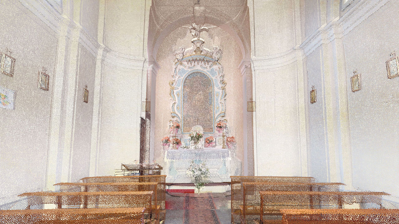Chiesa Vergine della Salute - Domegge di Cadore - Point Cloud