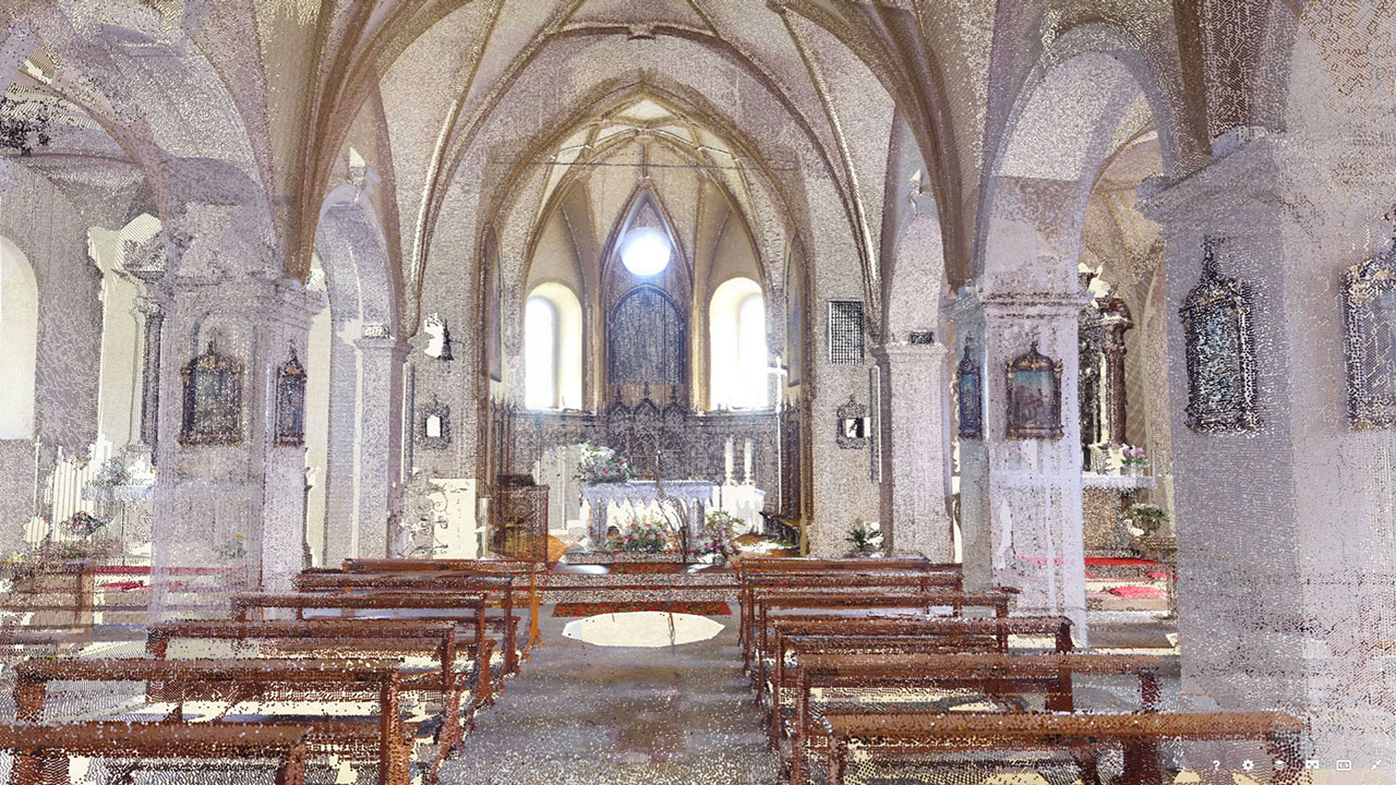Chiesa di S Pietro - San Pietro di Cadore - Point Cloud