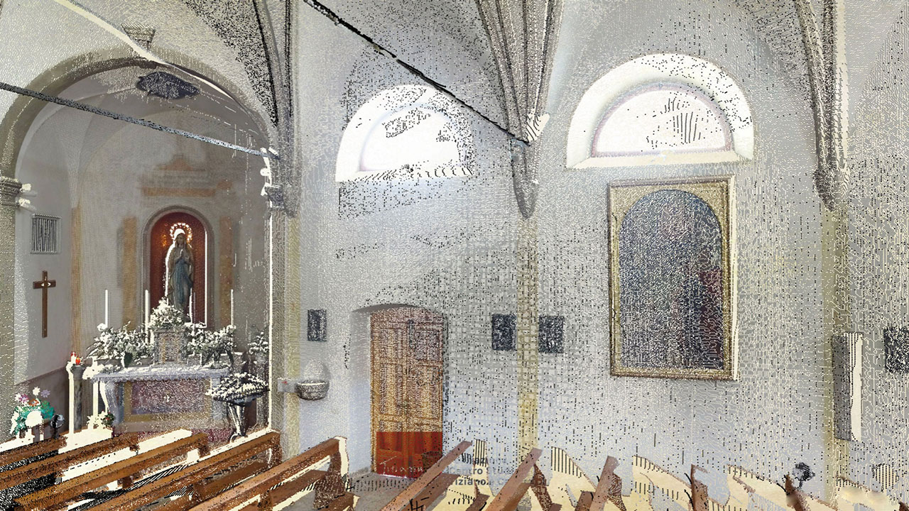 Chiesa di San Bernardino - Vigo di Cadore - Point Cloud