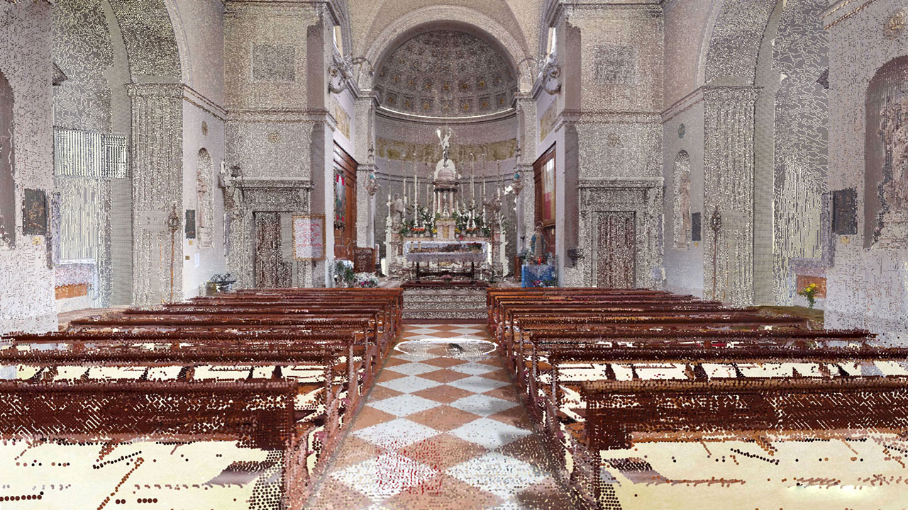Chiesa di San Marco - Valle di Cadore - Point Cloud
