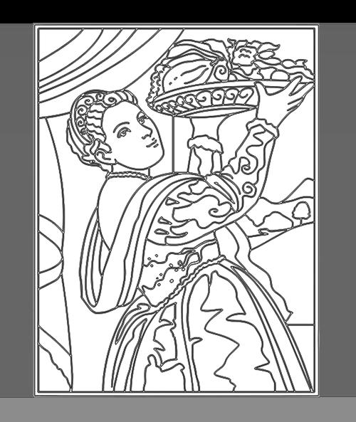 Tiziano Vecellio | Giovane dama con vassoio di frutta - ARTing