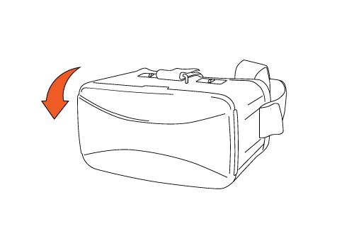 Apri il contenitore del tuo visore vr